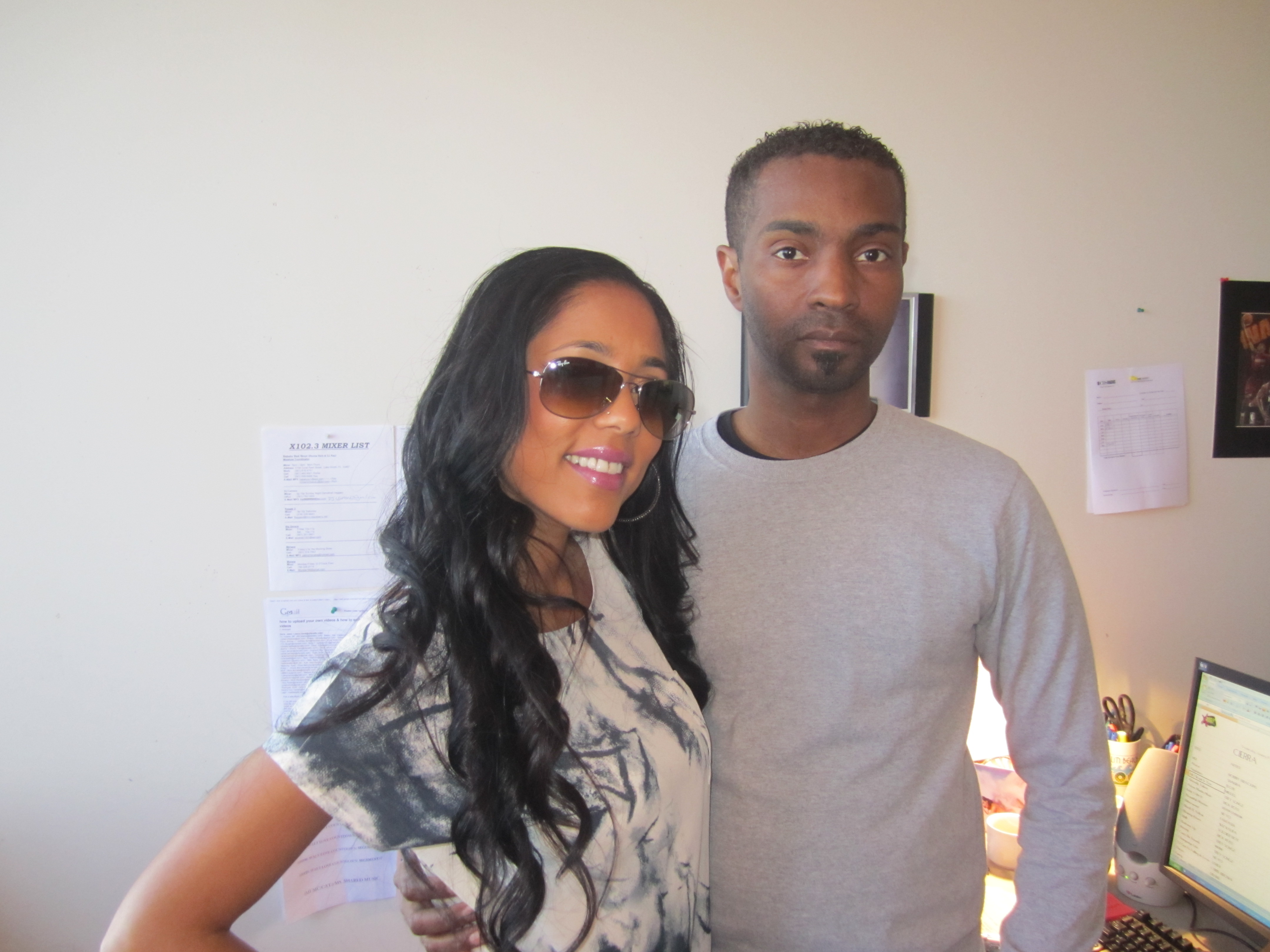NEW R&B ARTIST ADELA STOPS BY THE X102.3 FM RADIO OFFICES ...