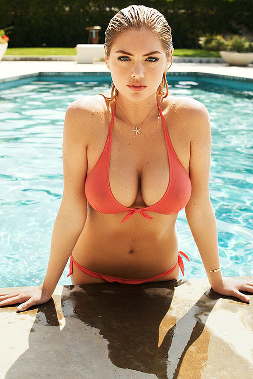 Kate Upton Shows Off Bikini Bod & Wet T-Shirts In Hot New Batch Of GQ Magazine Outtakes - Starpulse.com