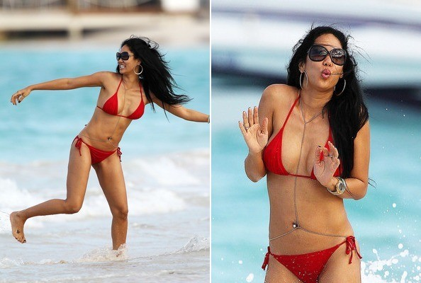 Bikini Babe Kimora Lee Simmons Lives the Fab Life in St. Barts - Celebrity News - Zimbio