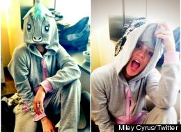 Miley Cyrus Twerking in a Unicorn Suit to WOP - YouTube