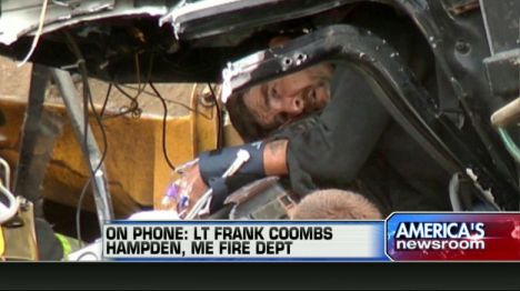 Maine Man Pulled From Crushed Dump Truck After Train Collision | Fox News Insider